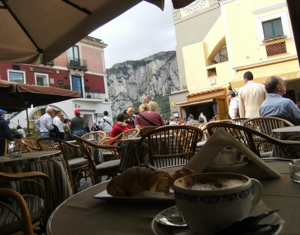Italy - Capri - Piazzetta Cafe
