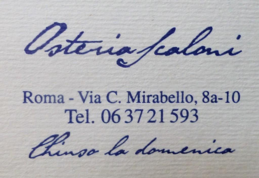 Italy - Rome - Osteria Scaloni - 2 (1024x705)